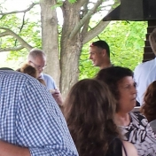 Faculty and Staff enjoy socializing