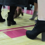 Shoes of graduating girls