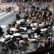 Jeremy Mulholland and the symphony orchestra play at commencement